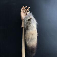 "14""/35cm Bush Wolves wolf coyote tails Keychain Fur Tassel bag charm Key Ring"
