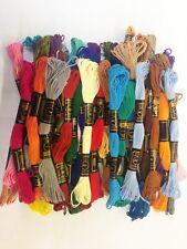 50 papillon uni Point écheveaux coton fil de broderie soie couleurs assorties