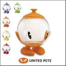 Italian Designed Bubble Pod Fish Glass Bowl / Lolly Jar - w/  Base + Lid