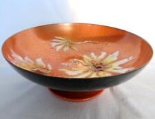 "Vintage Mid Century Chic Sascha Brastoff Enamel on Copper Pedestal Bowl 9""x3""H"