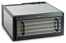 Excalibur D500CDSHD Stainless Steel Clear Door 5 Tray Food Dehydrator w/ Timer