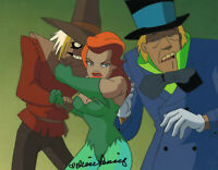 Batman Animated Series Original Production Cel Poison Ivy/Hatter/ScarecrowSigned
