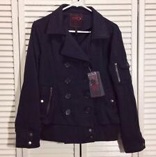 Nice YOKI  OUTERWEAR COLLECTION Women's Navy Blue Jacket Coat Size M Brand New