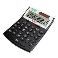 Ao41450 Aurora EcoCalc Large Desktop Calculator 12-digit Black EC707