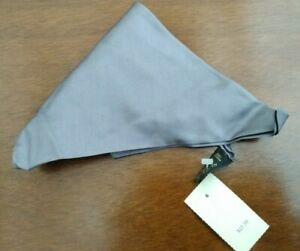 """Ashear 100% Silk Lavender Hand Rolled Italy Pocket Square Vintage NWT 18""""x19"""""""