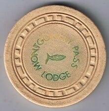 Montgomery Pass Lodge $5.00 SQSQRT Mold Casino Chip Hwy 6 & Hwy 95 Nevada 1953