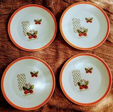 Vintage Mid Century Ceramic George Briad Butterfly Plates Set Of 4