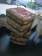 Ottoman foot stool pure 100% wool Persian Kilim