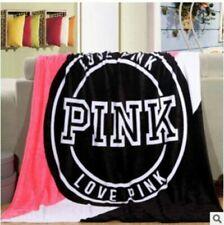 Victoria/Secret Love Pi/nk Soft Plush Throw Coral Fleece Air conditioner Blanket