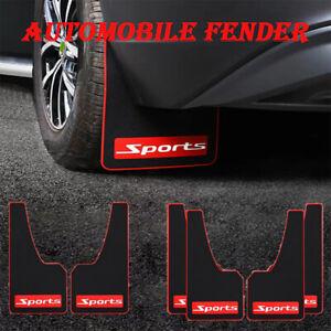 Rubber Mudflaps Splash Guards Sports Styling Car Truck Fender Accessories 4Pcs