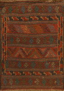Tribal Geometric Kilim-Sumak Hand-woven Area Rug Traditional Oriental Carpet 2x3