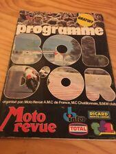 Programme officiel  42 éme bol d'or 1978 moto revue