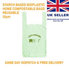 More details for compostable vest carrier bags reusable tuv certified home compost bin liner lot