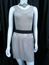 Top Shop pink mink shimmery v neck top NWT & River Island skirt UK 8, EU 36