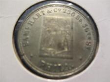 C1864 RARE Samuel Hart Store Playing Card Coin Token.