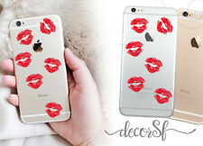 Red Lips on  iPhone 6 skin black - iphone 6 sticker / iphone 6 decals - stickers