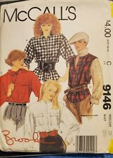 McCall's Pattern 9146 Misses Brooke Shields Shirts,Vest, Scarf sz 10 bust 32-1/2