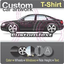 Custom T-shirt 1997 98 99 00-01-2005 C5 Audi A6 S6 SR6 quattro Plus turbo Sedan