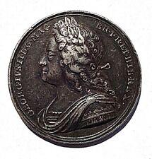 More details for 1727 coronation of george ii silver medal/medallion ( eimer 510 ) vf