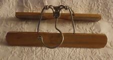 "Walker Wooden Wood Hanger Clothes Light Color 10"" Long"
