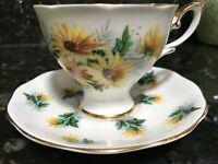 Royal Standard Tea Cup Saucer Bone China Gold Trim Vintage Rare