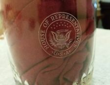 US House of Representatives Drinking Glass Clear Congress USA Water Bourbon