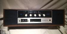 Vintage Lear Jet 8 track Tape Player Stereo model H-380 Made Usa 2 Speaker Clock