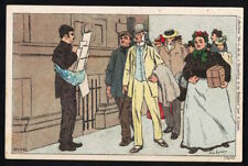Ae2350 Ill. Lynen Brussels Life Street Vendor Of News Papers No 168 Postcard