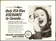 1960s vintage ad for Trans-Canada Air Lines-370