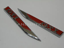 VW VOLKSWAGEN GOLF RED CHROME GTI MK7 WING DOOR BADGE MK4 MK5 MK6 MK3