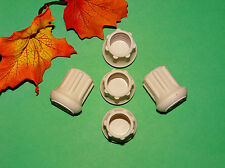 "(5) NEW 3/4"" WHITE RUBBER CANE TIPS FOR WALKERS, CRUTCHES, WALKING STICKS, ETC."