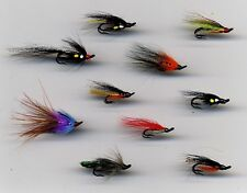 Salmon Flies: Double Hook Salmon Flies size 12&14 Ass x 10  (Code 330c)