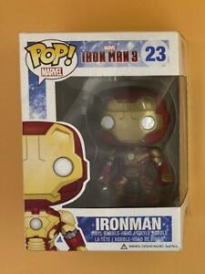 Ironman #23 Funko Pop! 2013 Marvel Iron Man 3 Plus Free Protector