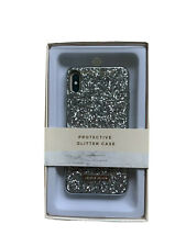 Nanette Lepore Protective Glitter Case iPhone XR. New in Box. Silver.