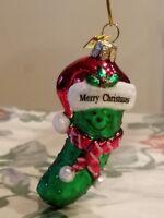 Brand New Kurt S. Adler Noble Gems Christmas Pickle Glass Ornament NEW