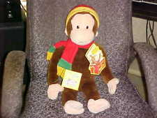 """24"""" Macys Talking Giggles Curious George Plush Toy Mini Book & Tags Works"""