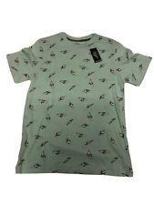 Mens Eighty Eight Green Paper Airplane Tshirt Large