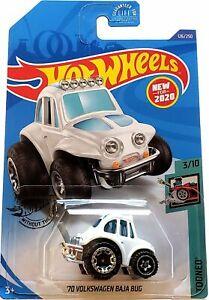 2020 Hot Wheels Mainline #126 - 1970 Volkswagen Baja Bug VW Beetle (White) GHB57