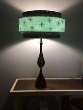 Mid Century Vintage Style 3 Tier Fiberglass Lamp Shade Modern Sea Foam