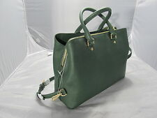 MICHAEL KORS SAVANNAH LEATHER GREEN MOSS LARGE SATCHEL HANDBAG