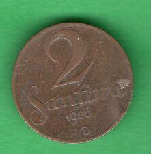 LATVIA LETTLAND 2 SANTIMI 1926 COIN 774