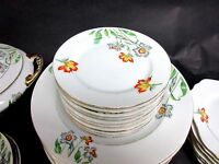"""Set of 10 Antique AMC Auguste Mouzin 6 1/4"""" Bread Plates Germany China Only"""