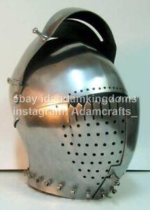 Medieval 2.5mm Steel Milanese Helmet XV Ct