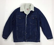 Roy rogers giubbotto sherpa giacca jeans L vintage pile imbottito usato  T4433