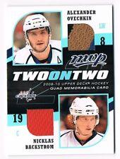 2009-10 Upper Deck MVP Two on Two Jersey Evgeni Malkin Sidney Crosby Ovechkin !!