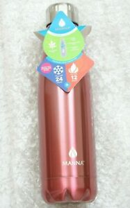 New Manna 17 Ounce Drink Bottle Double Wall Insulated Stainless Steel Leak Proof