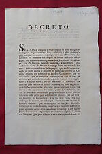 BRAZIL Decree dated 27 August 1808 - Early Printing