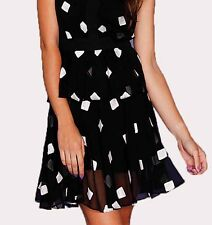 Honey and Beau Women's Skirt Black and White Mini Skirt Party Formal Size 8