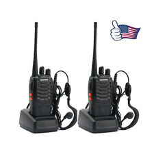 2x BAOFENG BF-888S UHF 400-470MHz 5W 16CH Long Range Two Way Radio Walkie Talkie