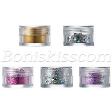 5 Boxes Glitter Sequins Powder For Nail Art Face Body Makeup Party Club Stage